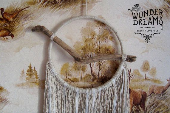 Nascha Minimal Boho Dreamcatcher with Driftwood by Wunderdreams