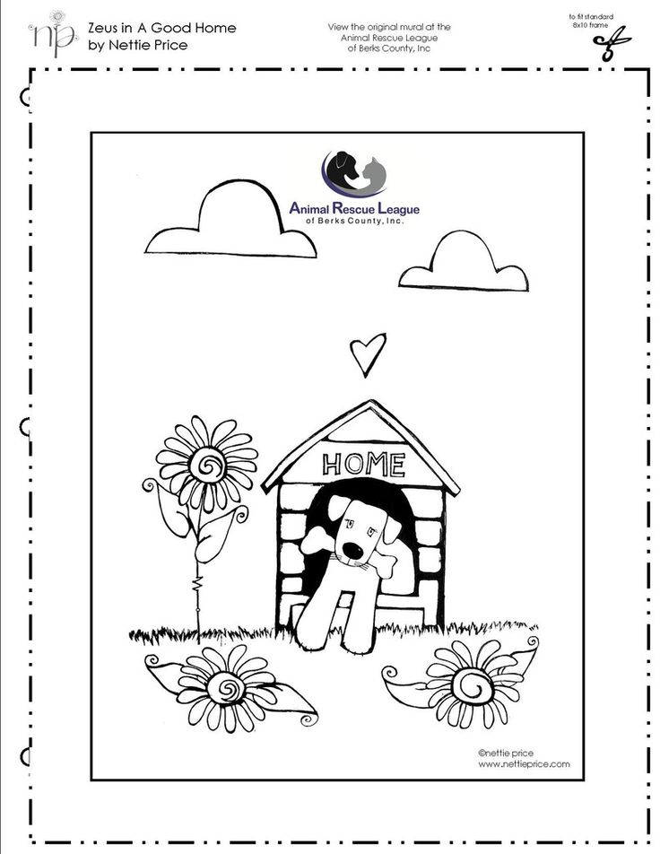 Zeus in a A Good Home FREE coloring page detail of ARL ...