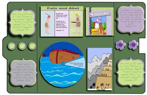 Genesis Bible Lapbook Video & Free Printables : Robin Sampson's Blog