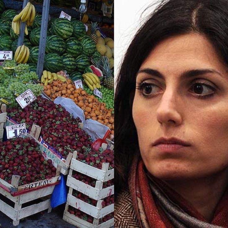 Virginia Raggi e la bufala del fruttivendolo abusivo a Roma