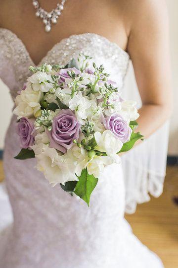 Photo Leah & Daniel collection by Grace and Gold Studios Bride handing out purple bouquet for the bridesmaids @leahecooke #purple #bridesmaid #bouquet