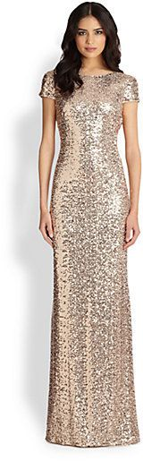 Badgley Mischka Sequin Cowl-Back Gown http://www.shopstyle.com/action/loadRetailerProductPage?id=442565762&pid=uid7609-25959603-56