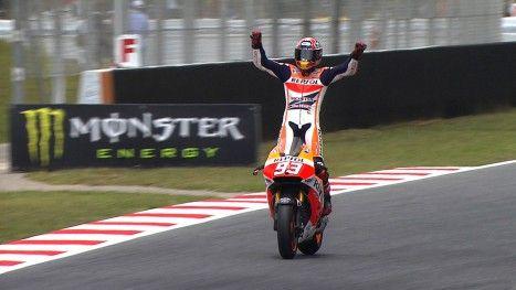 MotoGP / motogp.com · Marquez wins again in great Barcelona race / June 15, 2014 http://www.motogp.com/en/news/2014/Catalunya+MotoGP+Race+Marquez