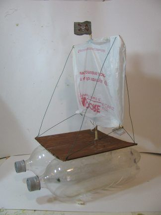 simple boat base: test? The sail and guide wires