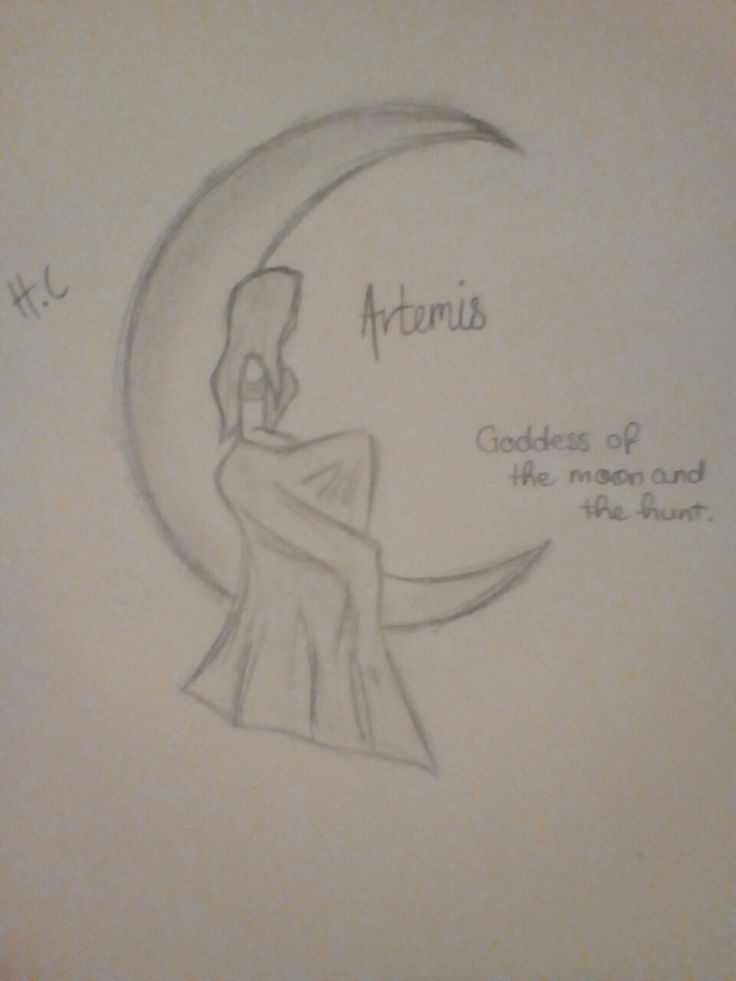 Artemis, goddess of the moon and the hunt 🌙 ~ Greek mythology