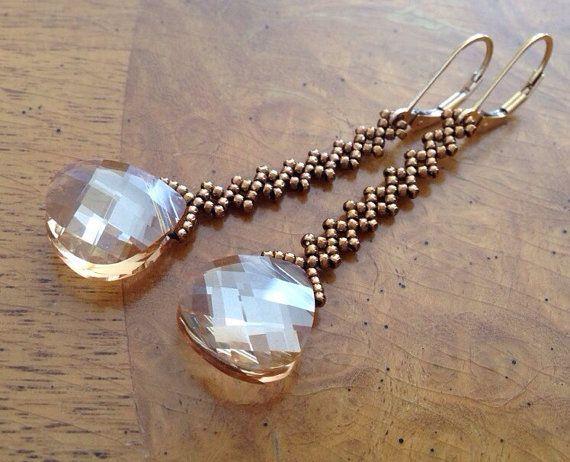 Swarovski gold crystal earrings, gold earrings, Swarovski crystal earrings, sparkle gold earrings, bridesmaid gift, gold wedding jewelry EBW