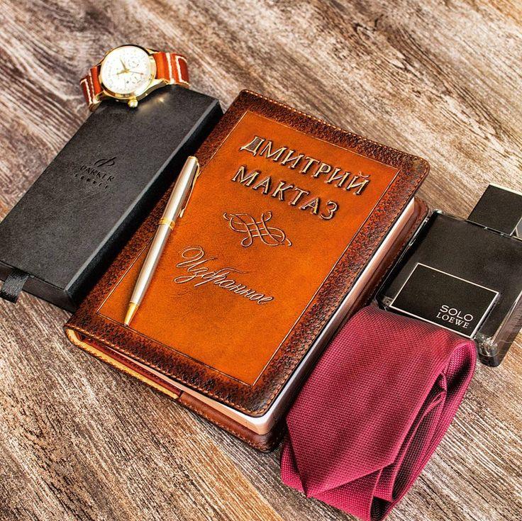 """Обложка для ежедневника -"""" Memory """"  Cover of leather diary - """" Memory """"    Обложка выполнена на заказ из итальянской кожаи растительного дубления, премиум класса!   #обложкадляежедневника#кожанаяобложка #handmadeworkshop#Russia#letherwork#leather#coverofleatherdiary#ArtemFoxLeather#"""