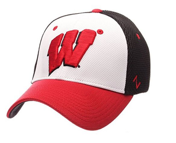 Wisconsin Badgers Kickoff Flex Fit Hat By Zephyr