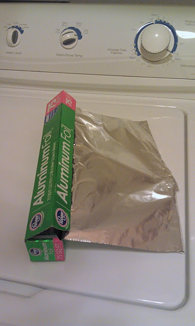 Static Cling: Say goodbye to dryer sheets... use an aluminum foil ball