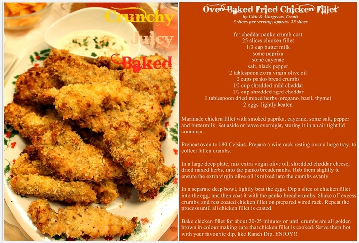 Chic & Gorgeous Treats: Cooking Recipe: Juicy Oven Baked Fried Chicken Fillet