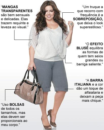 Moda plus size com Fluvia Lacerda. Truques para looks estilosos - Moda, Beleza, Estilo, Customizaçao e Receitas - Manequim - Editora Abril