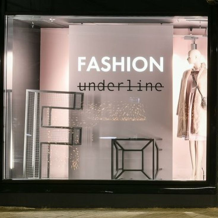 """UNDERLINED, Mega Belaya Dacha, Moscow, Russia, """"Fashion has to reflect who you are"""", Mannequin by Window France, pinned by Ton van der Veer"""