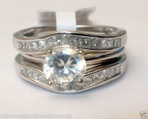 Solitaire enhancer diamonds ring guard wrap 14k white gold for Jared jewelry the loop