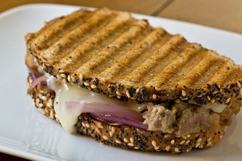Meat Loaf Patty Melt Panini...use your panini press to transform your leftovers into fabulous sandwiches