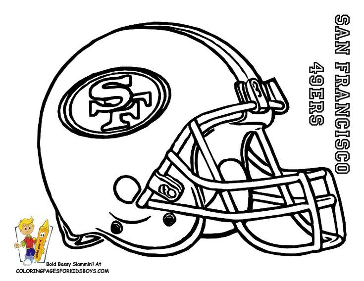 nfl coloring pages for kid - photo#14