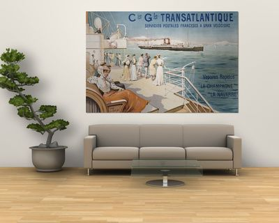 Cie. Gle. Transatlantique, circa 1910 Umělecké plakáty na AllPosters.cz.