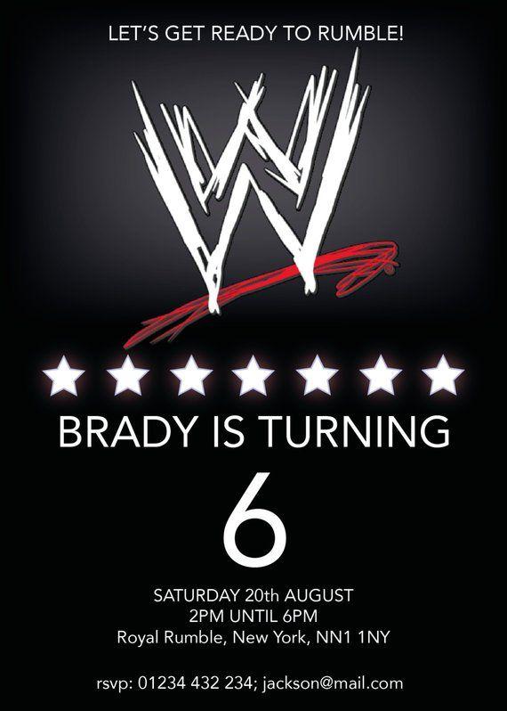Wwe Wrestling Birthday Invitation Self Editable Pdf 5 X 7 Etsy Wrestling Birthday Wwe Birthday Wwe Birthday Party