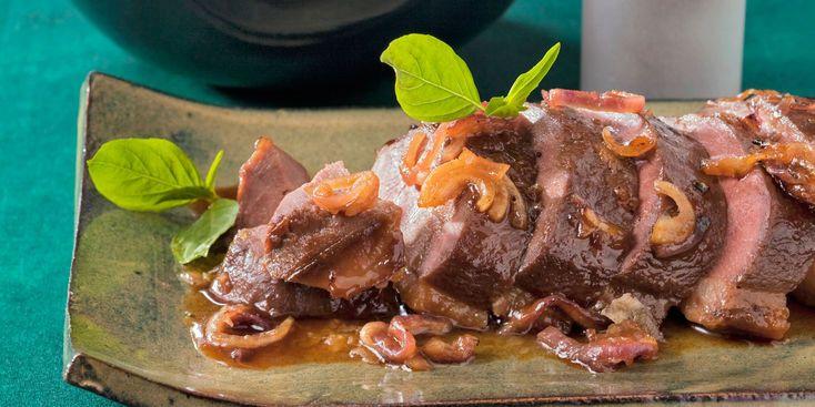 Rôti de chevreuil au gingembre