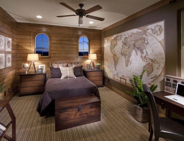 Kids bedroom, explorer theme