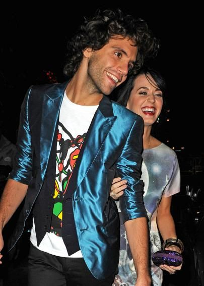 Mika and Katy Perry leave the annual Serpentine Gallery summer party at Kensington Gardens in London Sept 2008