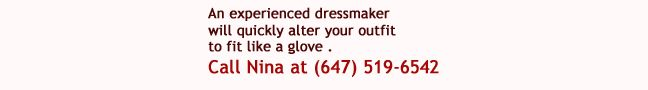 Best Dressmaking and alterations in Toronto