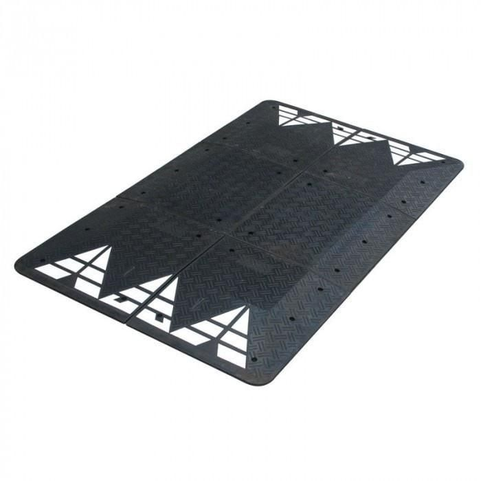 Barrier Group Durable Recycled Rubber Vehicle Speed Cushion Recycled Rubber Barrier Durable