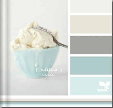 Loving these colors or my new bathroom with white Carrara marble...