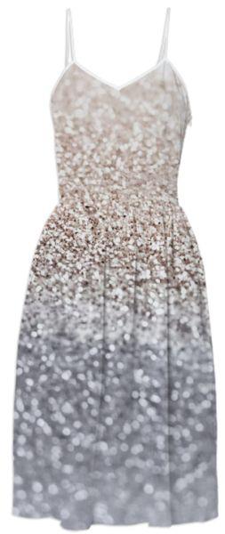GATSBY SILVER summer dress $125 By Monika Strigel for Printalloverme.com