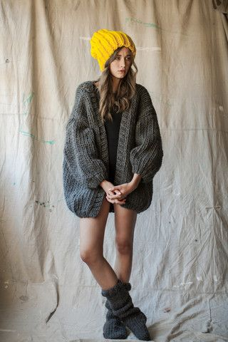 my dream winter knit jacket!! and that beanie!! so in love with the chunky knit!! :)