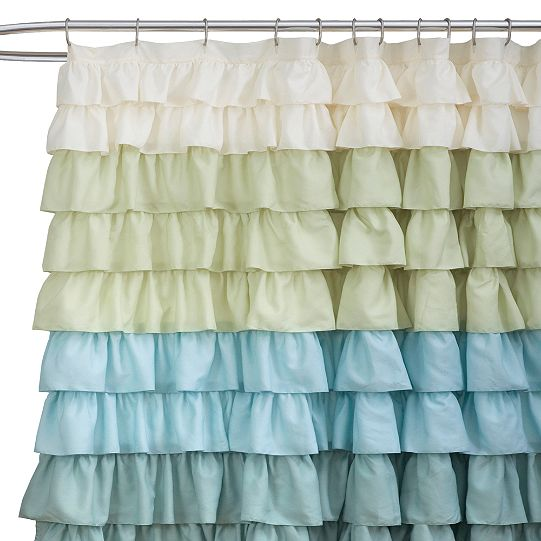 Pastel Ruffled Shower Curtain 44 Available From Bhr Home