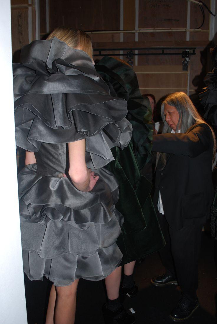 John Rocha AW14 backstage #fashion #backstage #LFW