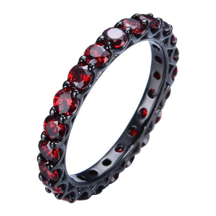 Купить товарСтаринные рубин женские украшения кольцо красный CZ группа 10KT черное золото заполненные обручальные кольца анель Aneis рождественский подарок Sz6 10 RB0108 в категории Кольцана AliExpress.                            Более очаровательной ювелирных изделий в нашем магазине, нажмите здесь и наслажда