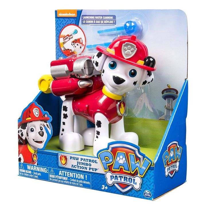 "New Paw Patrol Marshall Jumbo 6"" tall Sized Fun Adventure Action Pup Toy set"