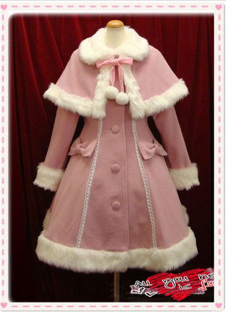 2016 Inverno Quente Doce Lolita Princesa Vestido Lolita Casaco De Lã Cashmere Casaco Capa Manto Jaquetas Lolita (pode Pedir Tamanhos Maiores)