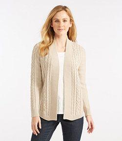 #LLBean: Double L® Cotton Sweater, Open Cardigan