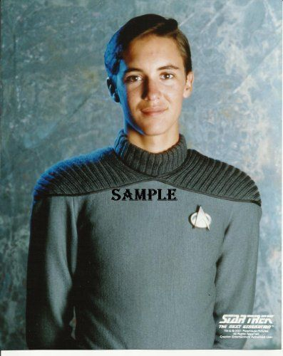 Star Trek The Next Generation TNG Wil Wheaton Wesley Crusher Smiling with Logo 8x10 Picture on Post  @ niftywarehouse.com
