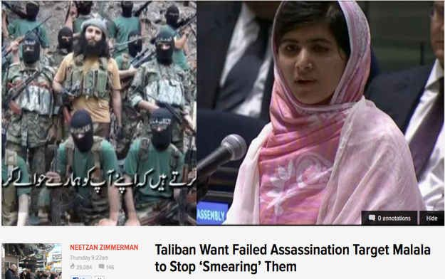 Lastly, the ironic news headline of the week, via the Taliban, who tried to smear 16 year-old Malala's brains all over the ground. Read the story . | Irony — We Haz It (10 Photos)