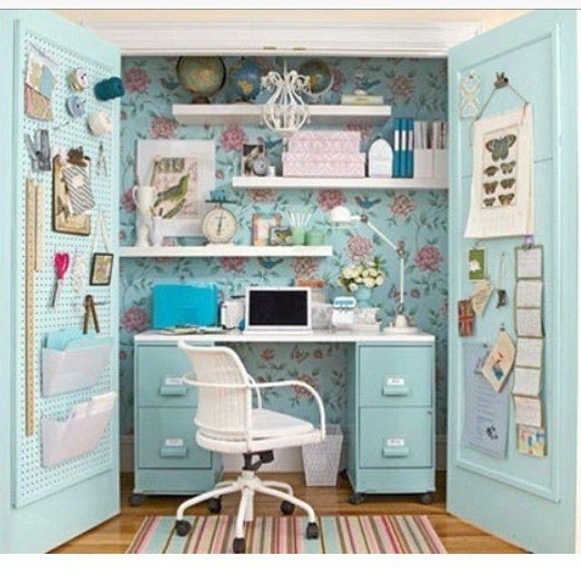 closet into craft space