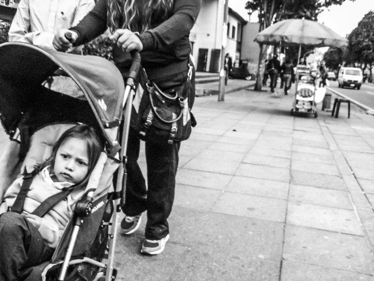 "Street Photography. Little Girl ""happy""."