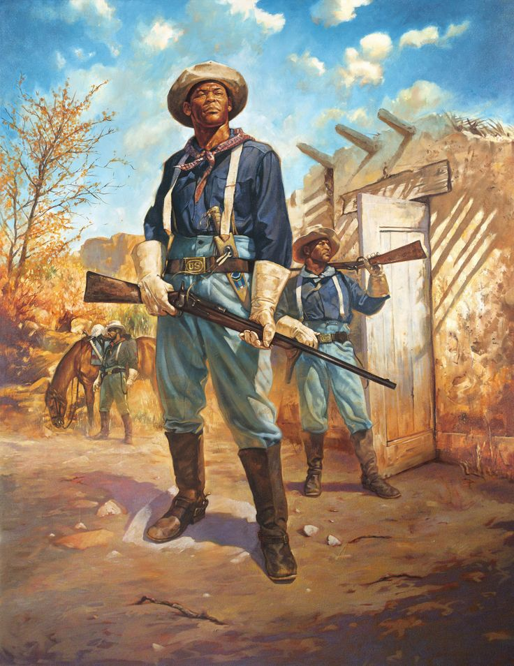 Buffalo Soldier On Patrol Black History Painting African