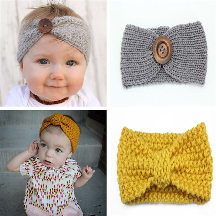 Winter Baby Girl Knit Headband Headbands Hair Accessories For Newborns Head Bands Kids Hair Band Hairband Turban Hot Sales Yiwu