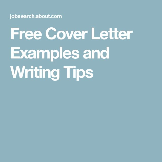 The 25+ best Free cover letter examples ideas on Pinterest Cover - cover letter for resume examples free