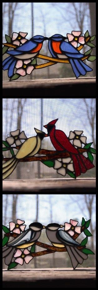Love these birds...match my windows Mom made...beautiful