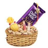 Send Pista In Basket with rakhi to Jaipur