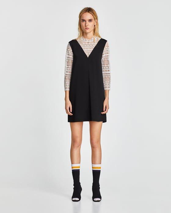 Zara Vestito Combinato Pizzo 1 Nel Clothing Immagine Ideas Di xRU6PnX