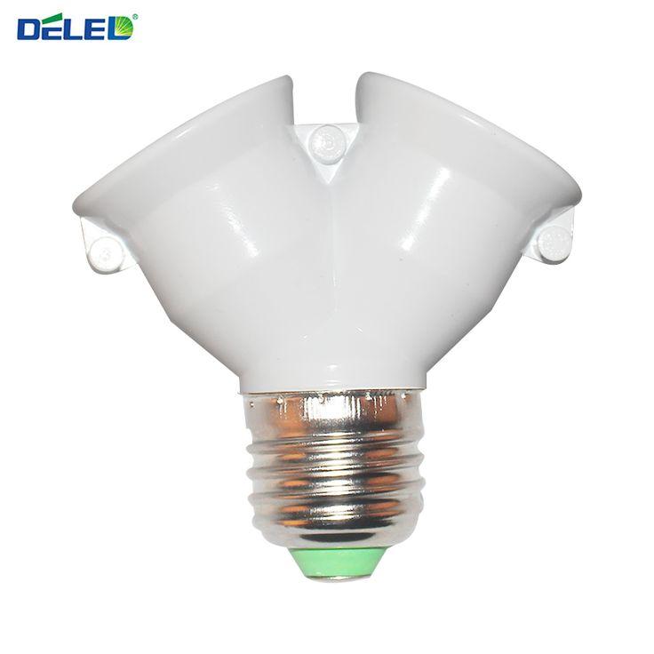 Sostenedor de la lámpara Del Zócalo Del Convertidor de Conversión con Material Ignífugo E27 a 2 tipo de Base de Lámpara E27 Adaptador 2E27 Y Forma Divisor 1 Unids