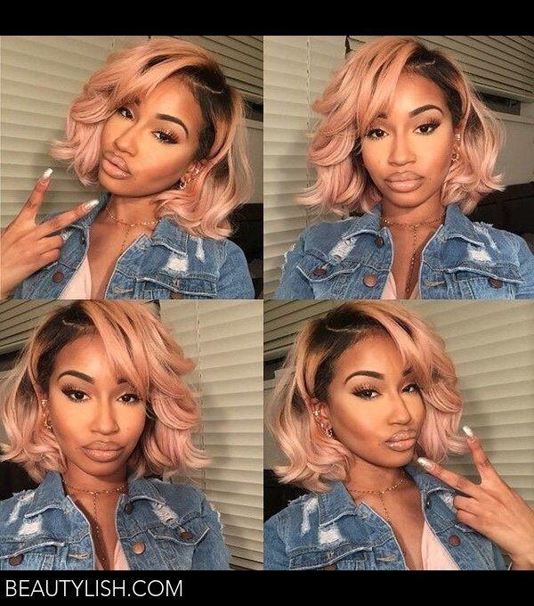 Blush pink hair