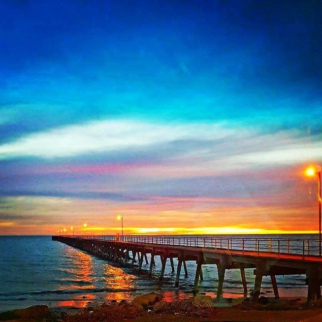 The sunsets here at Port Hughes are amazing!   #porthughestouristpark #porthughespier #sunset #sa #southaustralia #yorkepeninsula