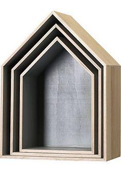 In deze houten huisjes kunnen ook kleine decoratie artikelen in geplaatst worden.