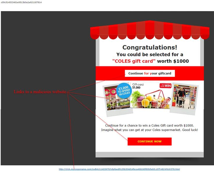 Your 1000AUD Coles Gift Card Scam - http://www.mailshark.com.au/recent-security-news/your-1000aud-coles-gift-card-scam-24173
